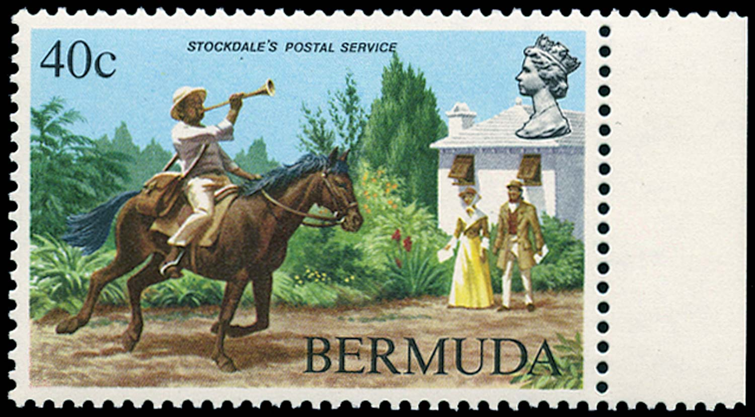 BERMUDA 1984  SG471w Mint Postal Service 40c watermark sideways inverted