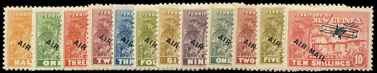 NEW GUINEA 1931  SG137/48 Mint Huts Air Mail short set to 10s