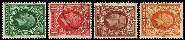 GB 1934-35  SG439/42a Used