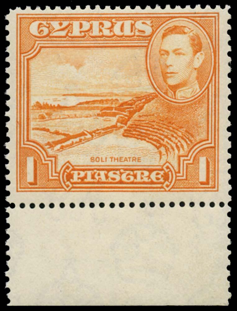 CYPRUS 1938  SG154a Mint 1pi orange perf 13½ x 12½ unmounted