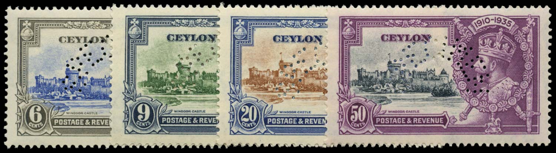 CEYLON 1935  SG379s/82s Specimen Silver Jubilee set unmounted