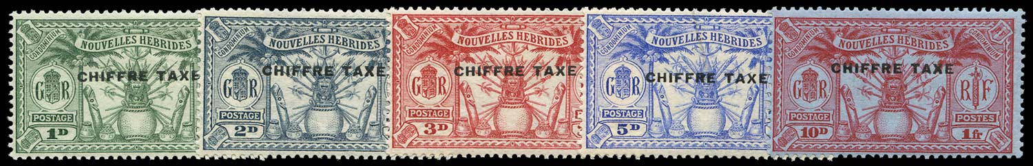 NEW HEBRIDES FRENCH 1925  SGFD53/7 Postage Due