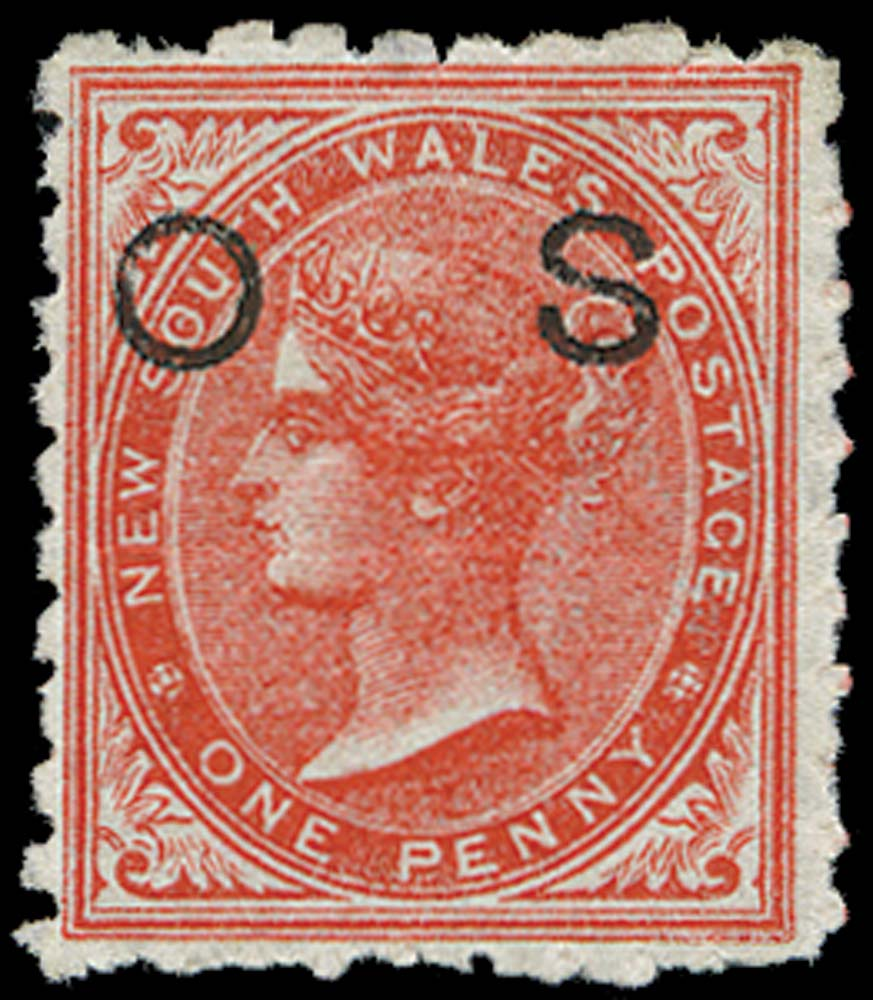 NEW SOUTH WALES 1886  SGO34 Official 1d scarlet