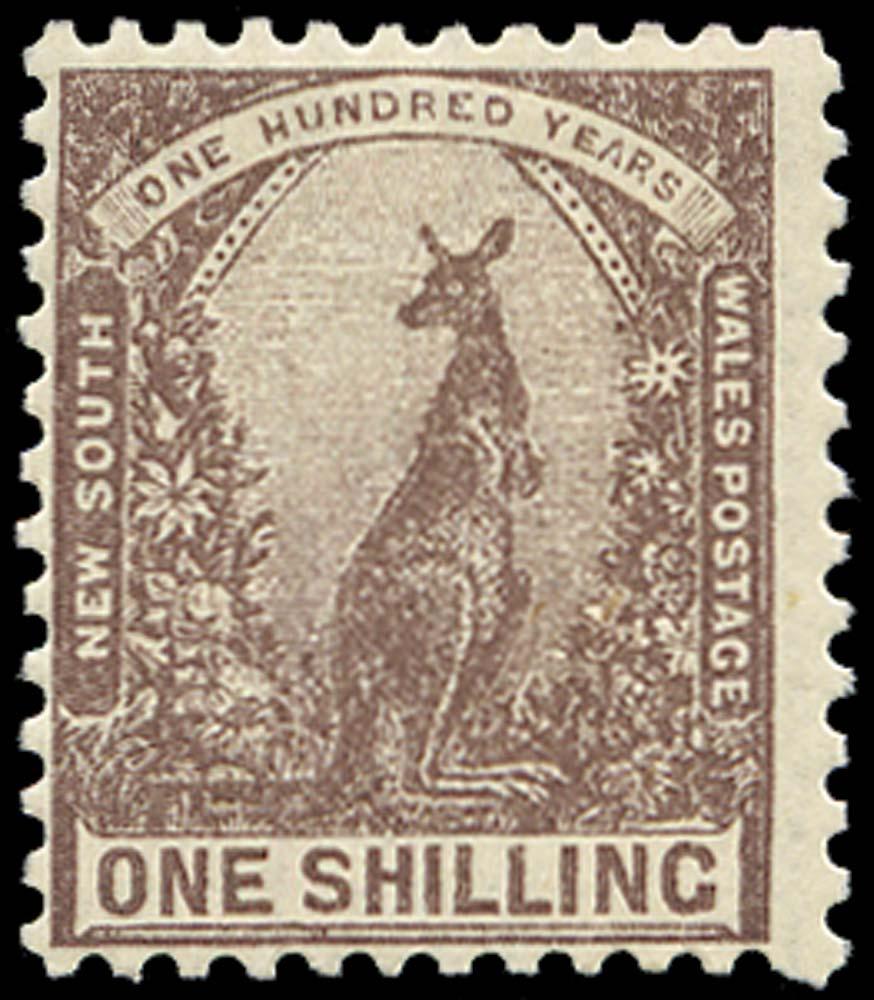 NEW SOUTH WALES 1907  SG362 Mint 1s Kangaroo perf 12x11½