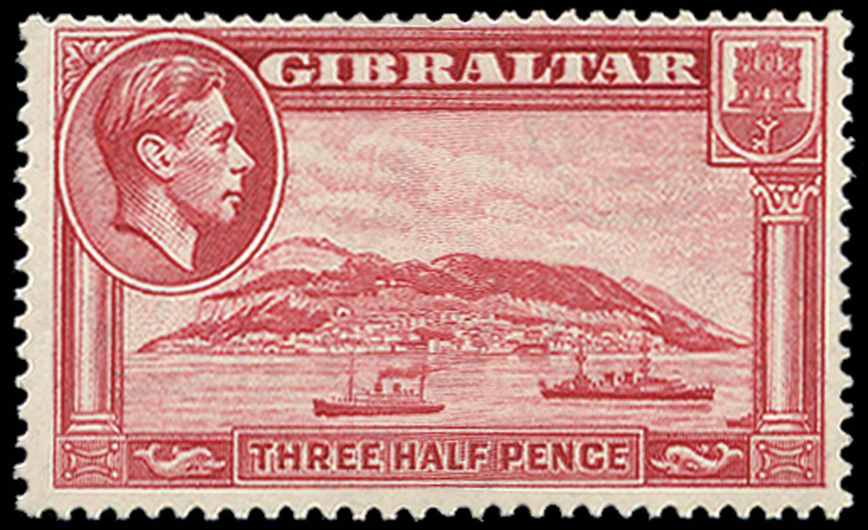 GIBRALTAR 1938  SG123a Mint