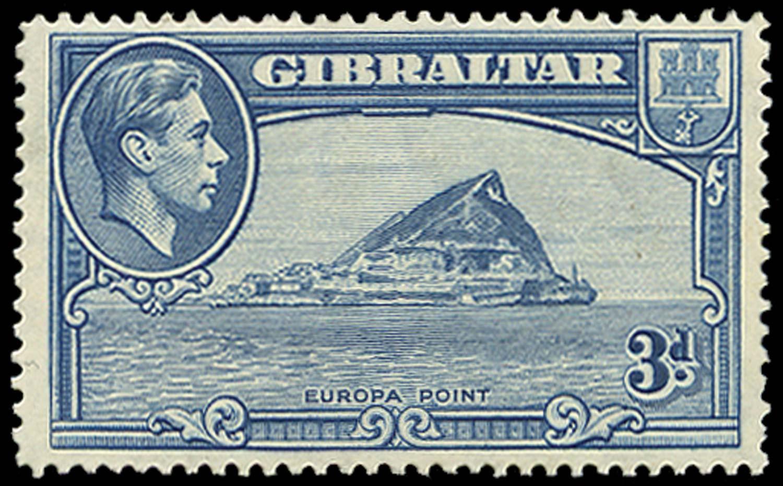 GIBRALTAR 1938  SG125a Mint