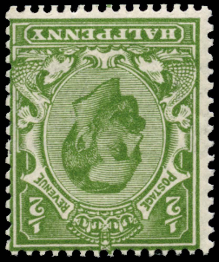 GB 1911  SG324wi Mint (Die 1B, Wmk. Crown Inverted).
