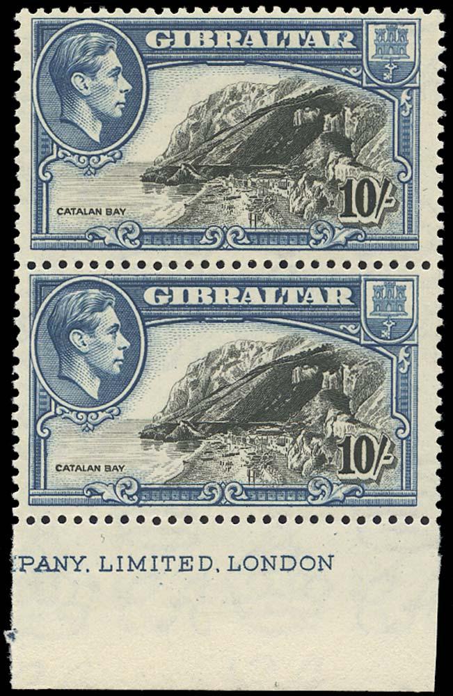 GIBRALTAR 1951  SG130a/ab Mint