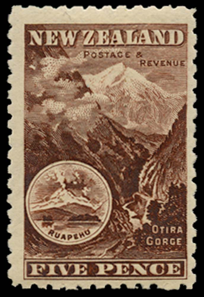 NEW ZEALAND 1899  SG263 Mint 5d purple-brown no watermark perf 11