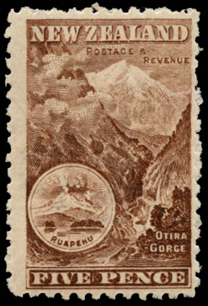 NEW ZEALAND 1902  SG311 Mint 5d red-brown watermark 43 perf 11