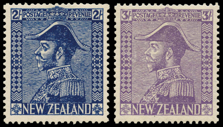 NEW ZEALAND 1926  SG466/7 Mint Admiral 2s, 3s on Jones paper