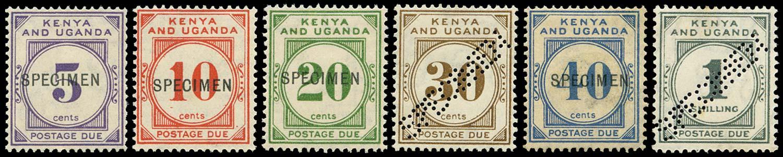 KUT 1928  SGD1s/6s Specimen