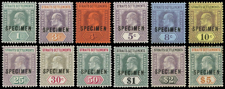 MALAYA - STRAITS 1902  SG110s/21s Specimen