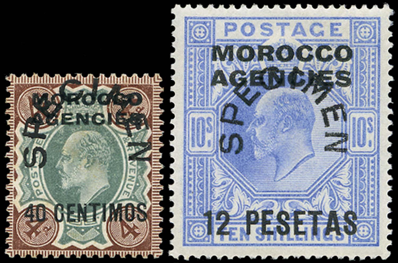 MOROCCO AGENCIES 1907  SG117s, 123s Specimen