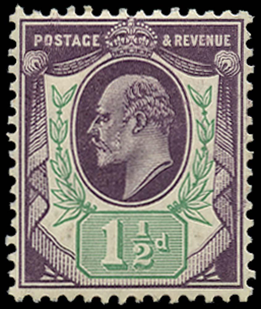 GB 1905  SG224var Mint