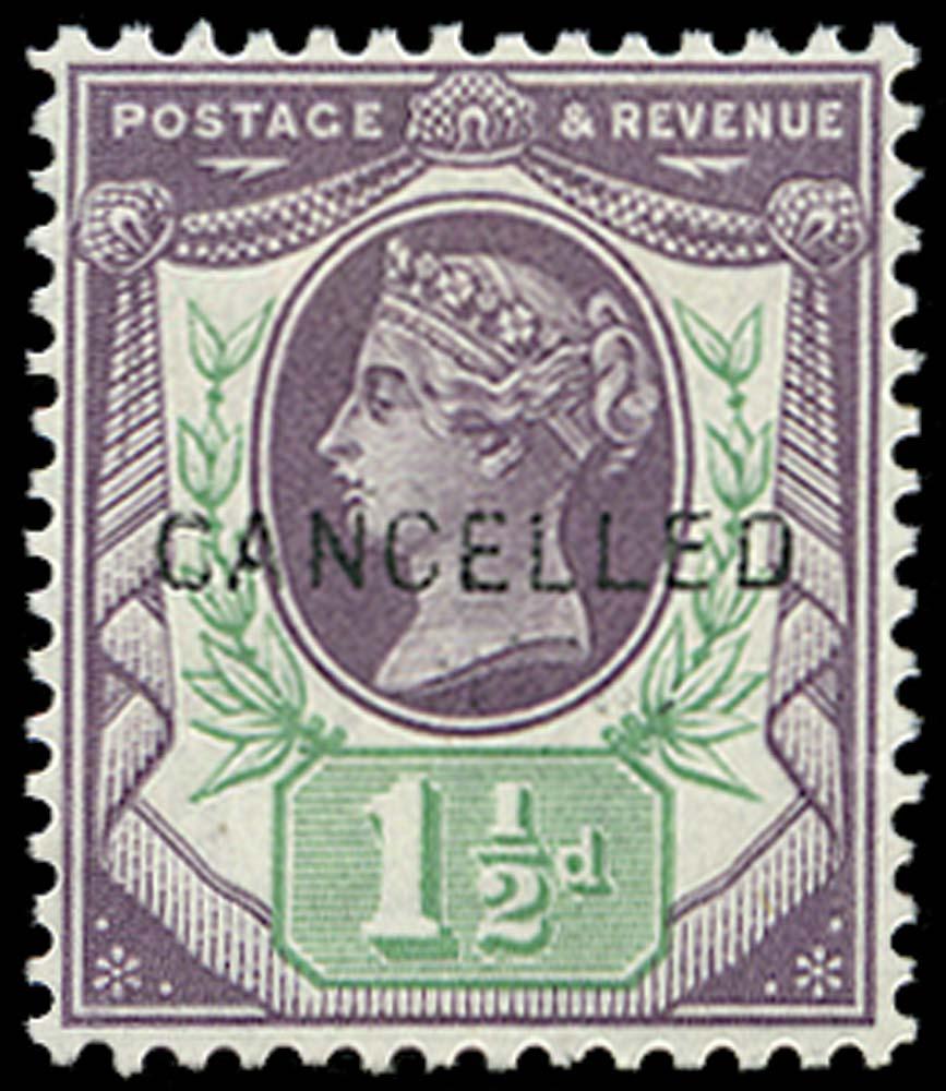 GB 1887  SG198var Specimen o.g. example