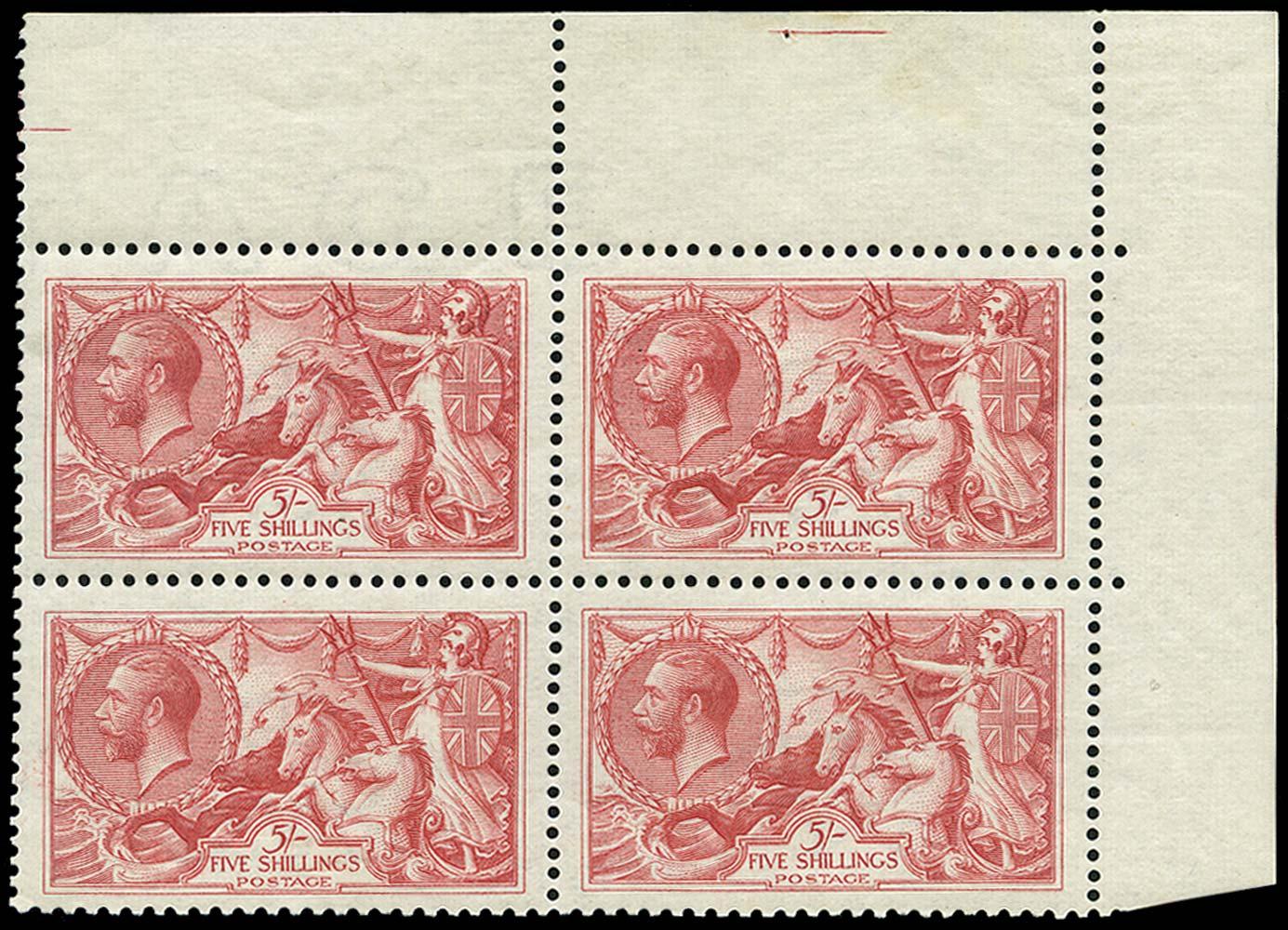 GB 1919  SG416 Mint Unused o.g.