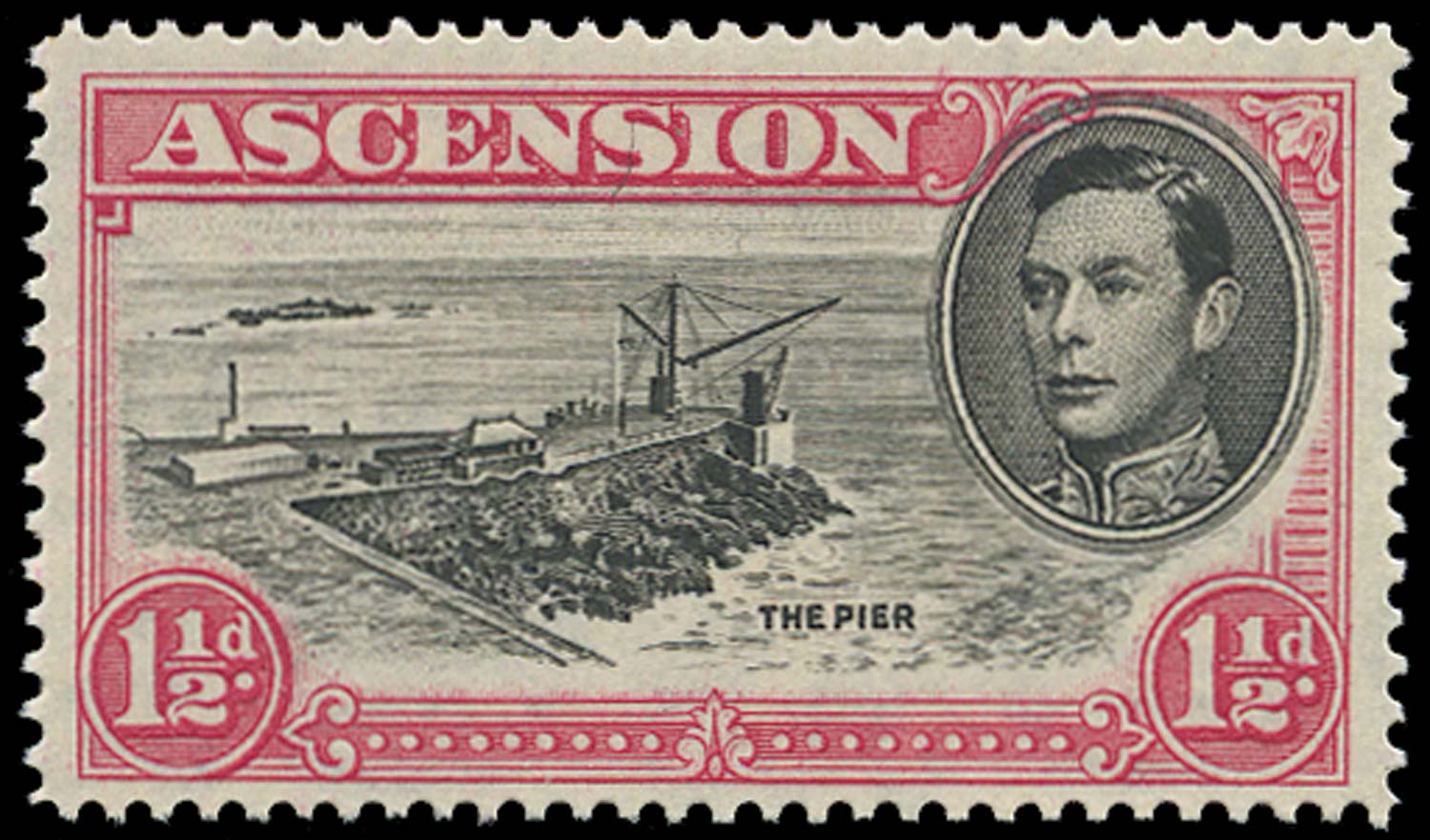 ASCENSION 1938  SG40da Mint