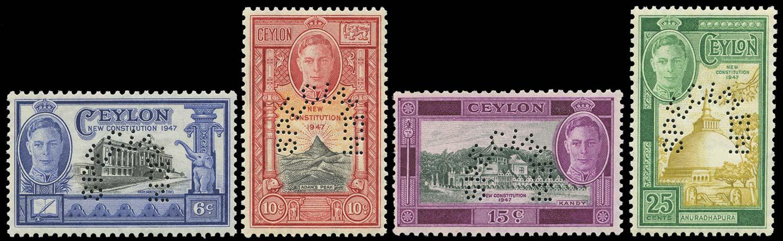 CEYLON 1947  SG402s/5s Specimen