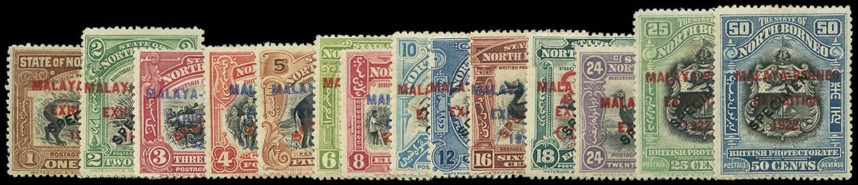 NORTH BORNEO 1922  SG253s/75s Specimen