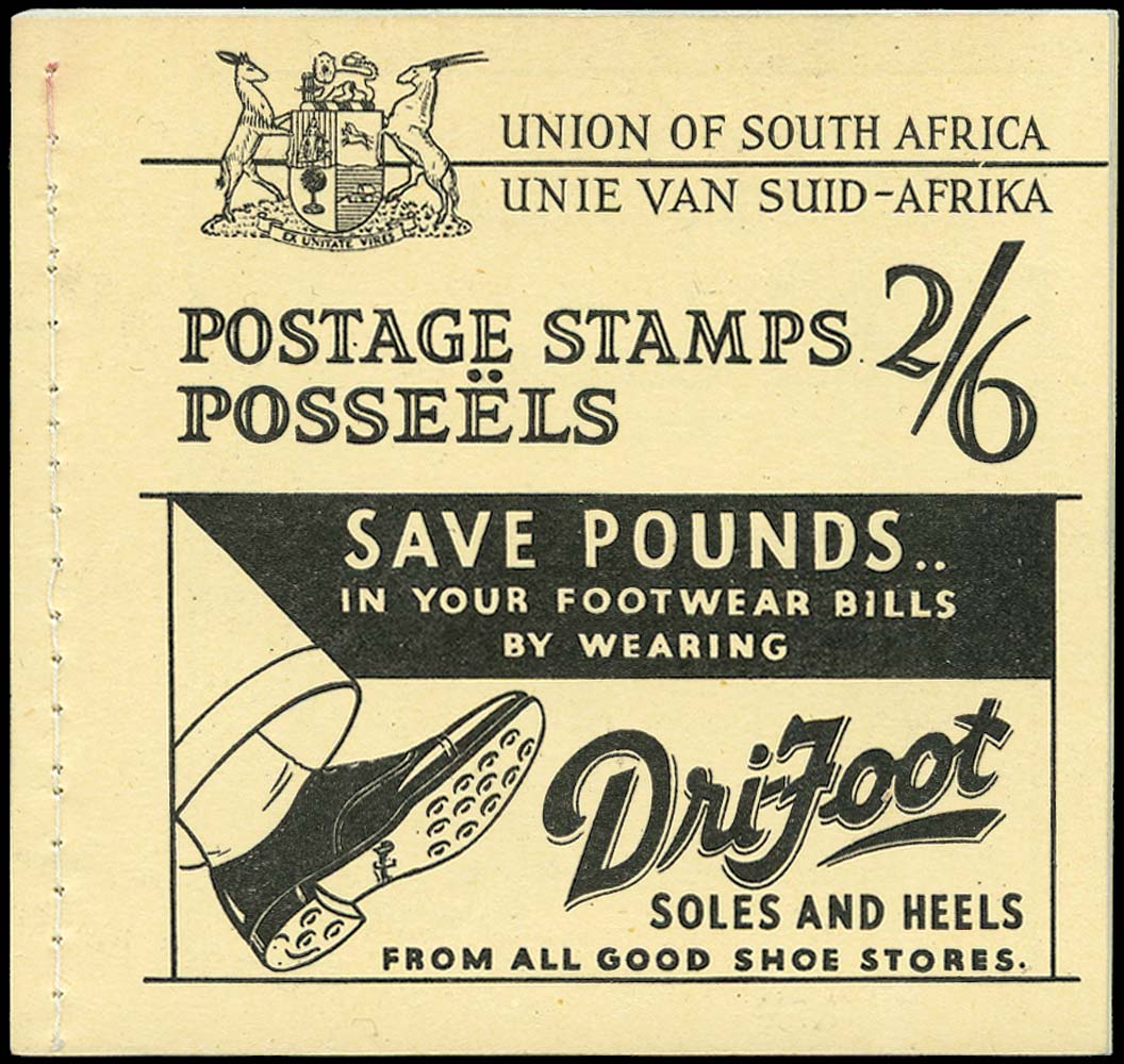 SOUTH AFRICA 1935  SGSB10 Booklet