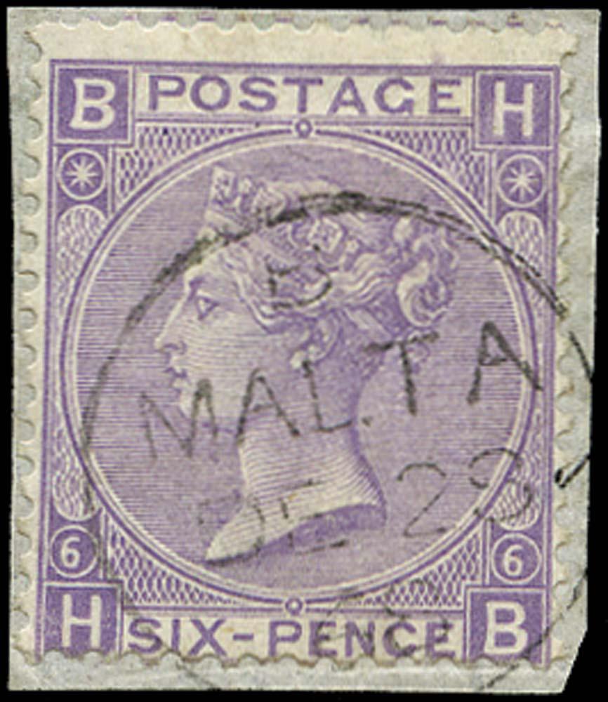 GB 1867  SG106 Pl.6 Used Malta cds