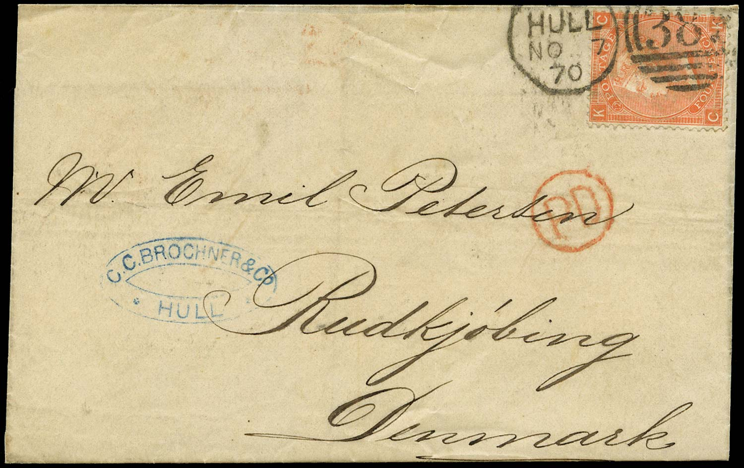GB 1870  SG94 Pl.12 Cover