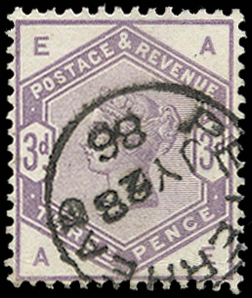 GB 1883  SG191 Used Peterhead cds