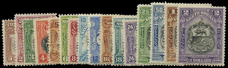 NORTH BORNEO 1925  SG277/92 Mint