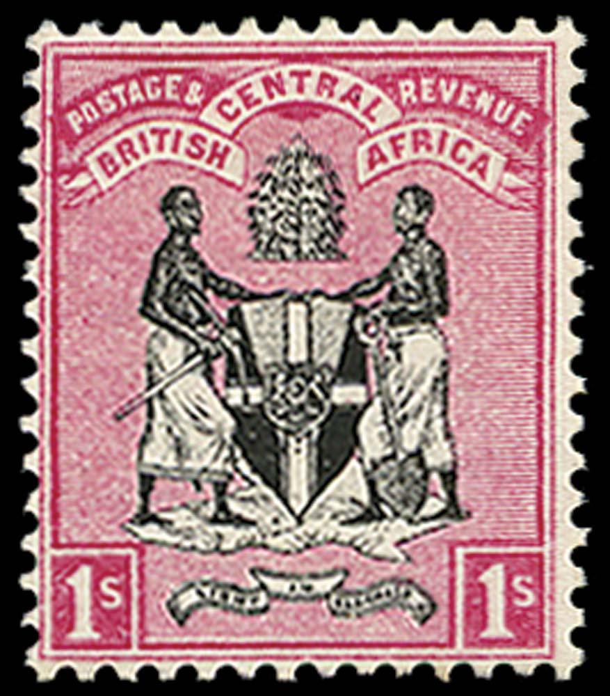 NYASALAND 1895  SG25 Mint 1s black and rose no watermark