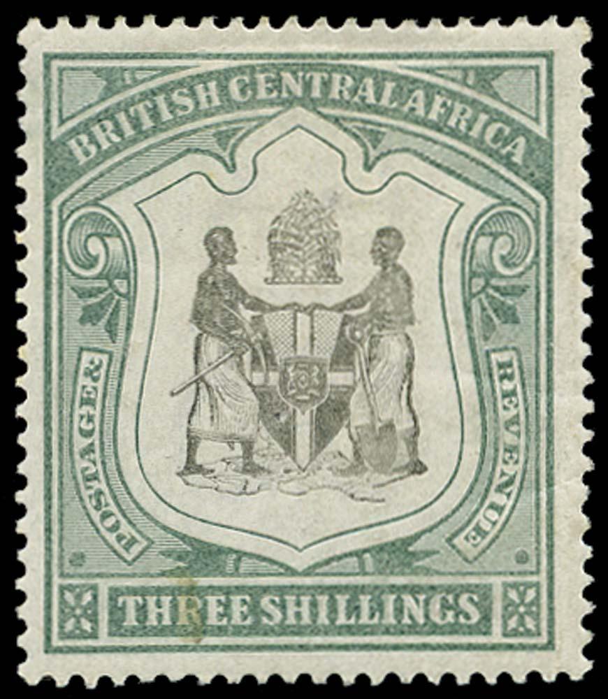 NYASALAND 1897  SG49 Mint 3s black and sea-green