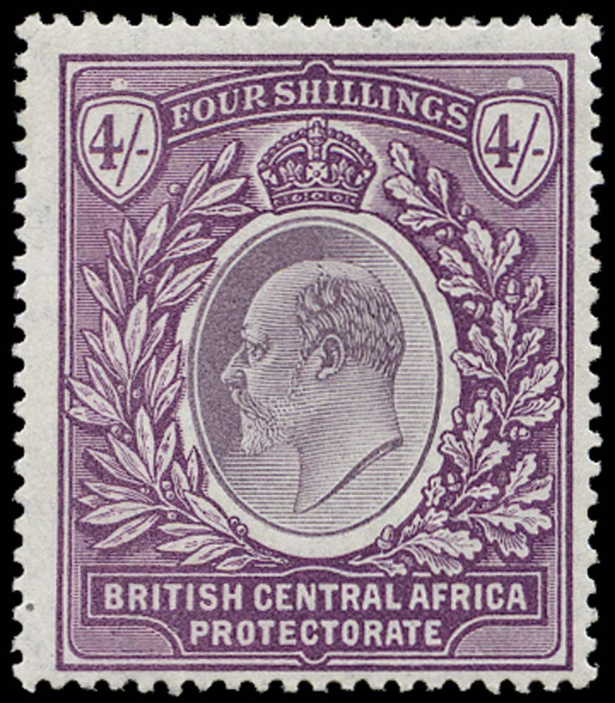 NYASALAND 1903  SG64 Mint KEVII 4s dull and bright purple