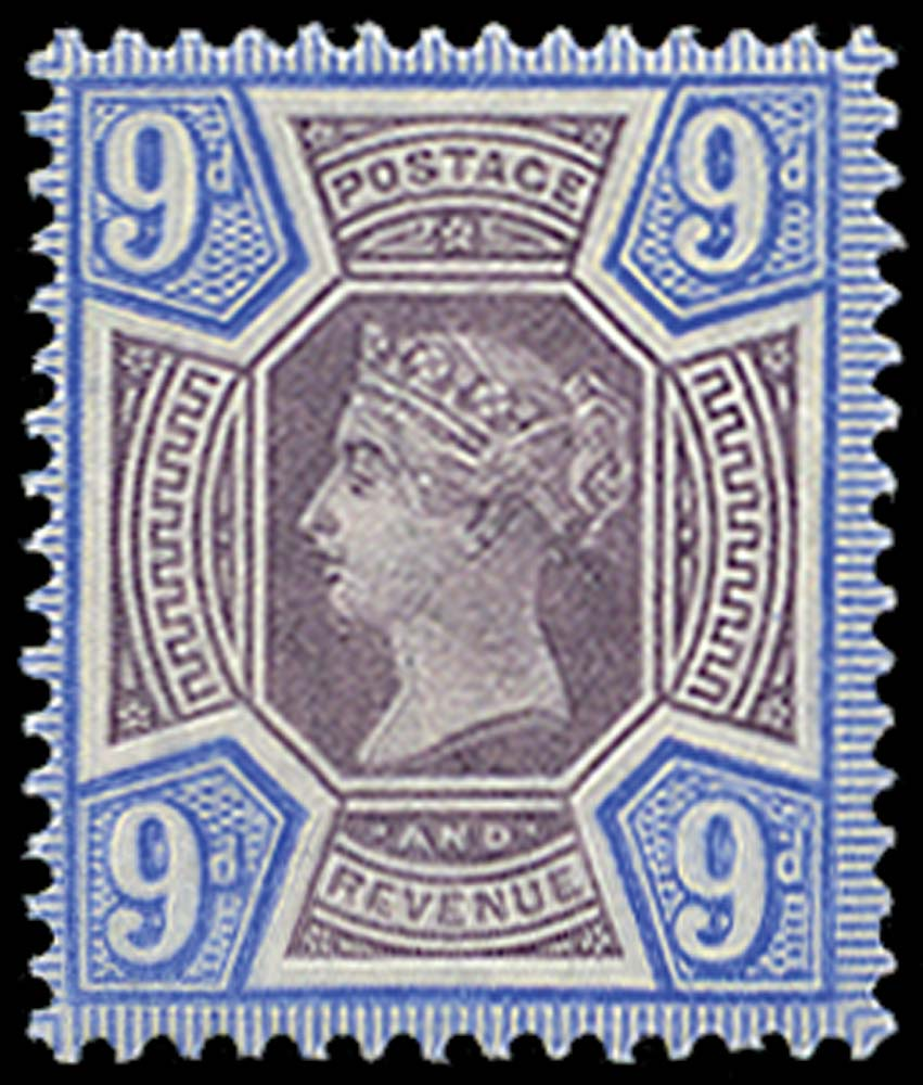 GB 1887  SG209var Mint U/M example