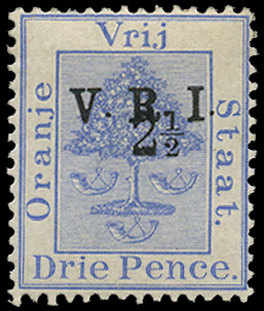 ORANGE FREE STATE 1900  SG115 Mint 2½d on 3d type 32 V.R.I. surcharge