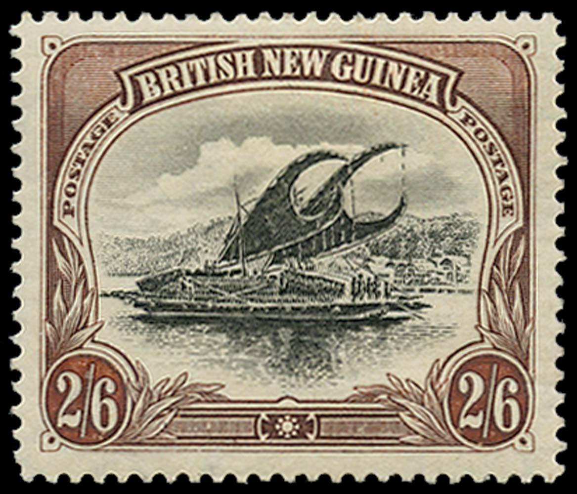 PAPUA 1901  SG8 Mint 2s6d Lakatoi
