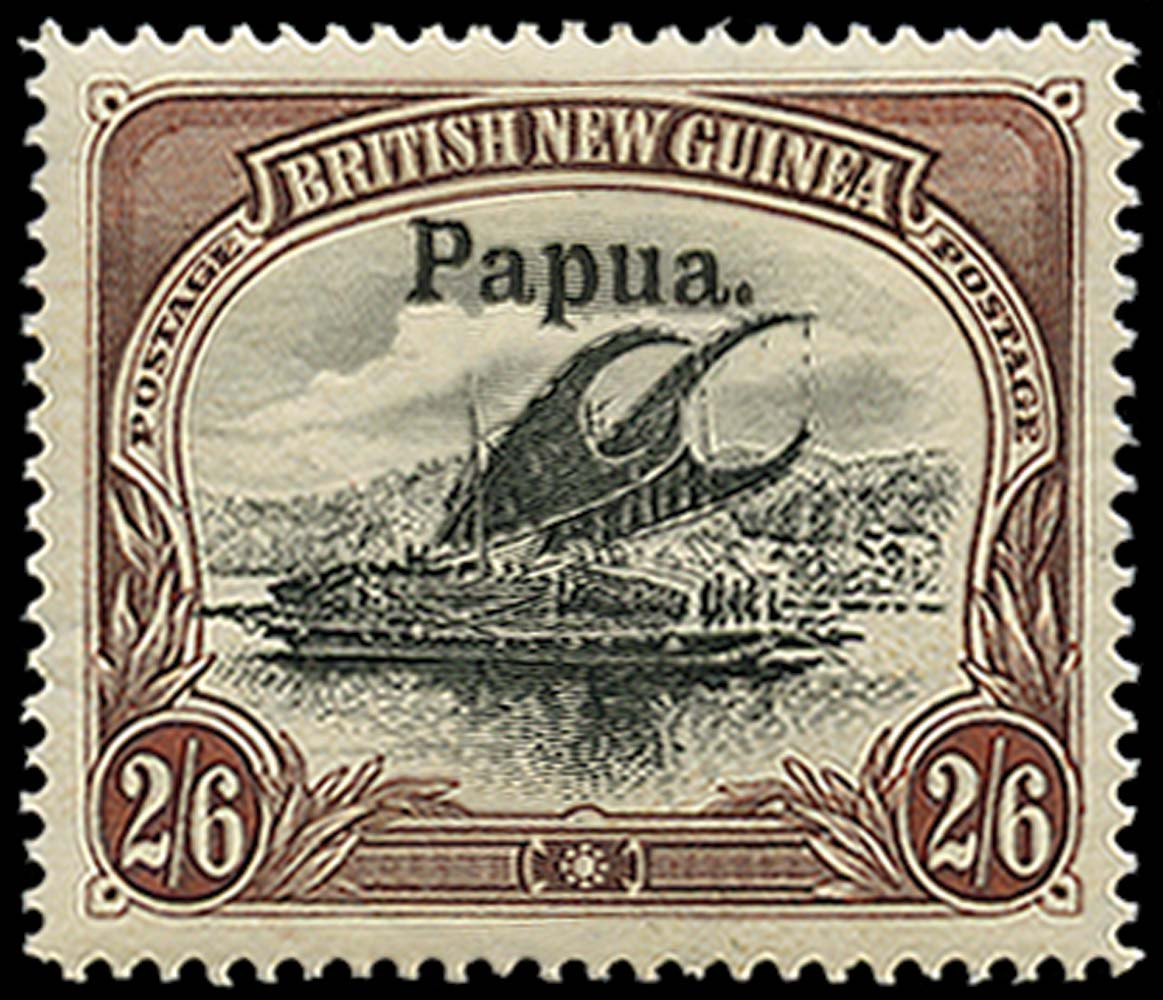 PAPUA 1906  SG20 Mint 2s6d type 3 overprint horizontal watermark