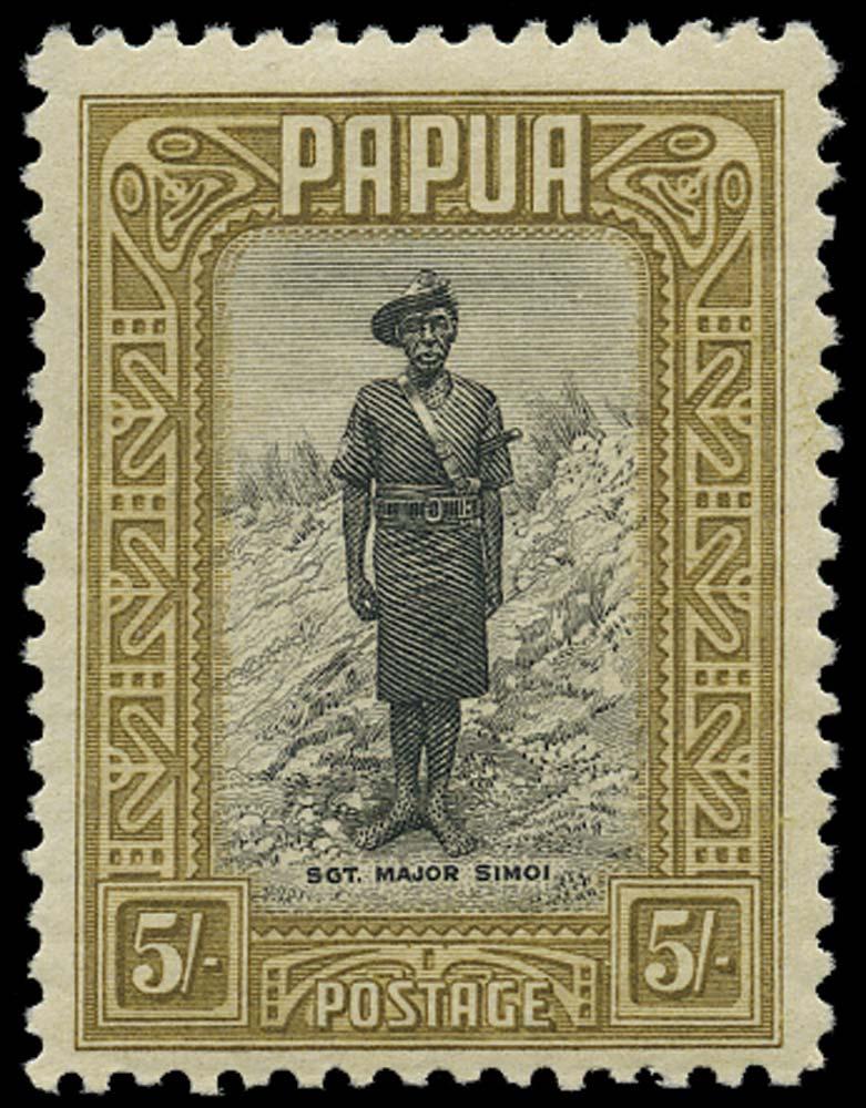 PAPUA 1932  SG143 Mint 5s Policeman