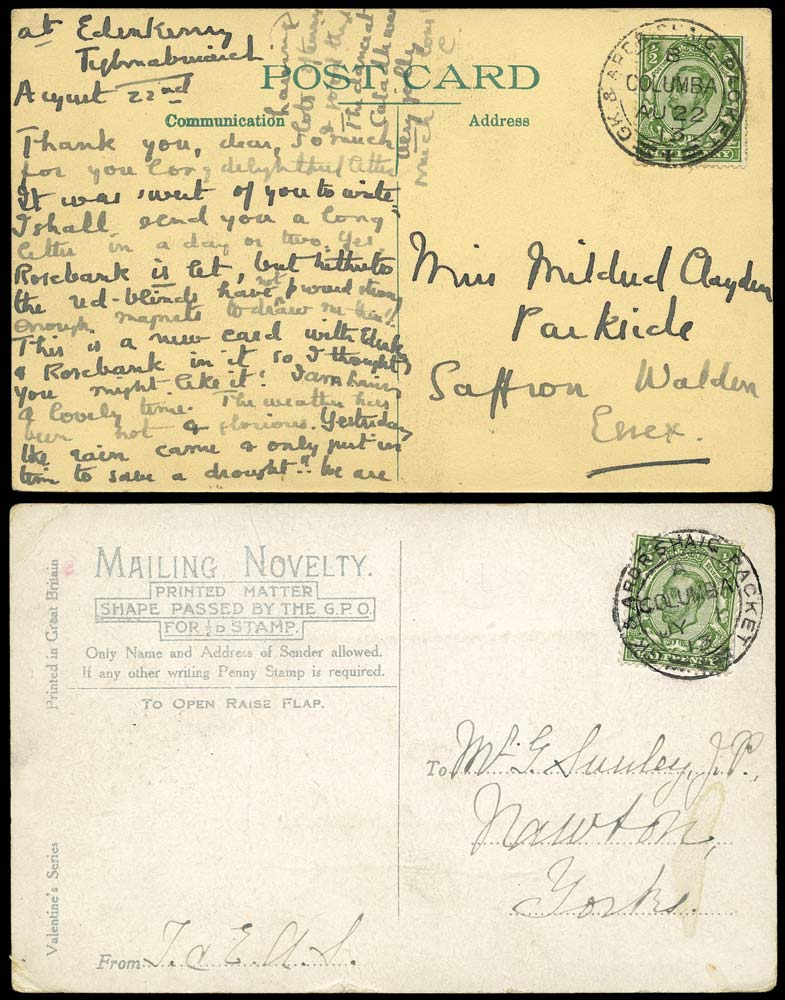 GB 1913  SG344 Cover