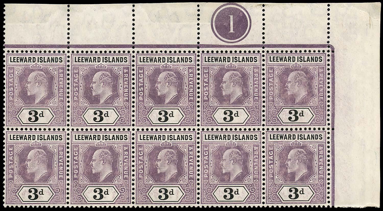LEEWARD ISLANDS 1905  SG33a Mint