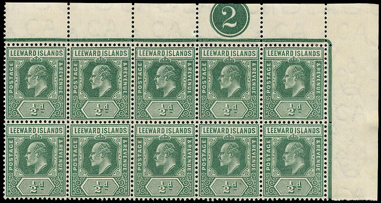 LEEWARD ISLANDS 1907  SG37 Mint