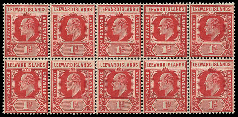LEEWARD ISLANDS 1907  SG38 Mint