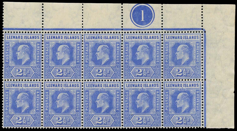 LEEWARD ISLANDS 1907  SG40 Mint