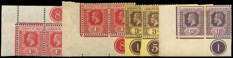 LEEWARD ISLANDS 1912  SG48/53 Mint