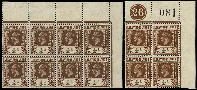 LEEWARD ISLANDS 1921  SG58 Mint