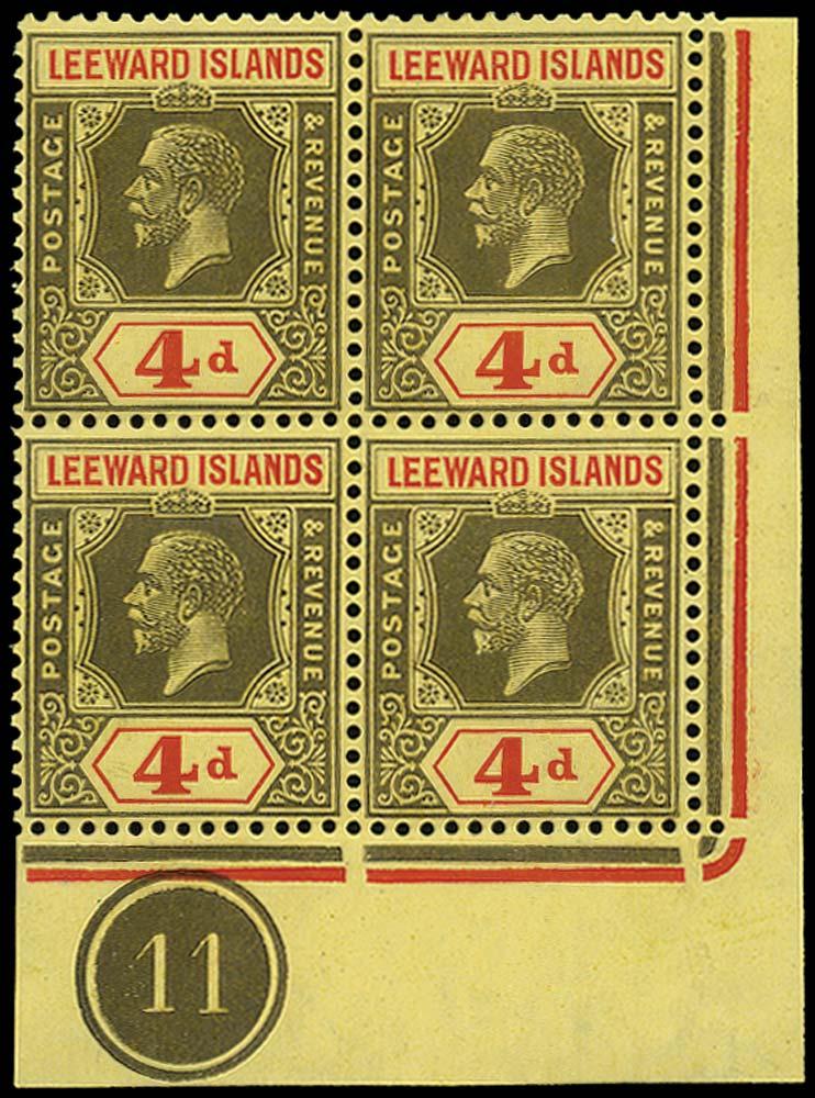 LEEWARD ISLANDS 1921  SG70 Mint