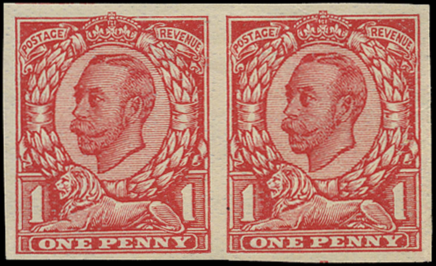 GB 1912  SG341var Trial on John Allen special finish thin paper