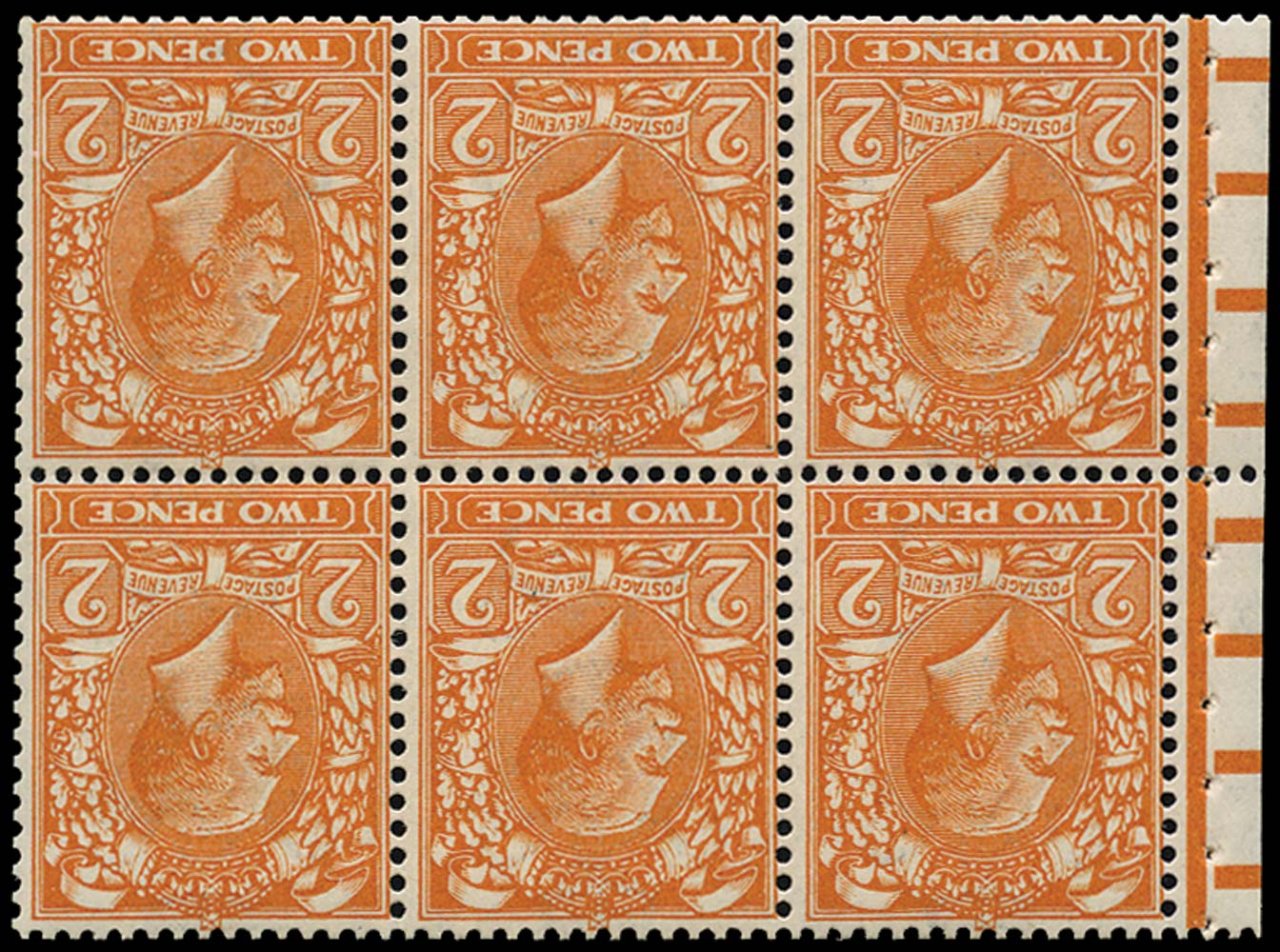 GB 1920  SG368aw Booklet pane
