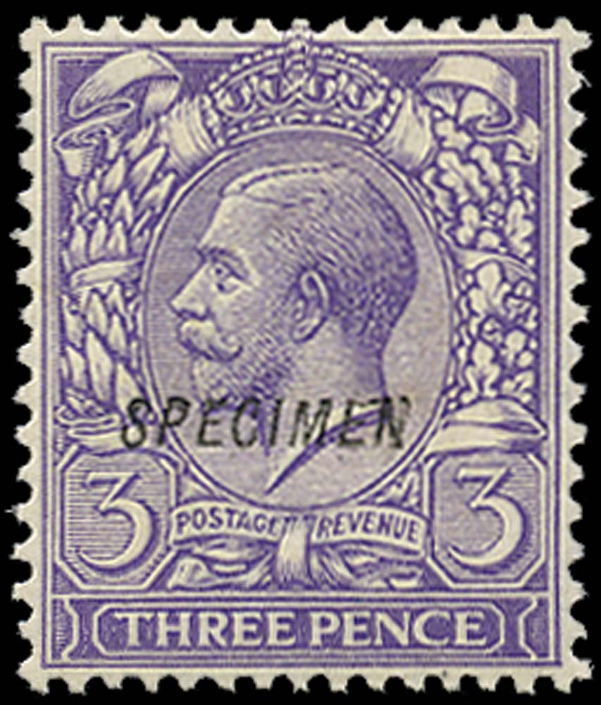 GB 1912  SG375s Specimen type 23
