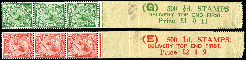 GB 1913  SG397/8 Mint - Coil leaders (Codes G & E)
