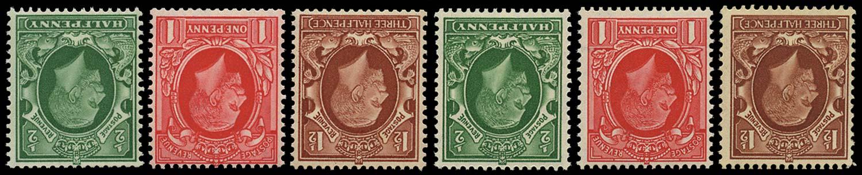 GB 1934  SG439/41wi Mint - Wmk inverted intermediate & small formats
